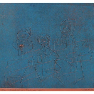 """""""Family Group; Saturday Night"""" 1970 Serigraph For Sale"""