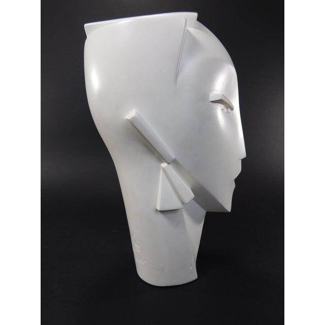Lindsey Balkweill 1984 Vintage Sculptural Plaster Head - Image 4 of 11