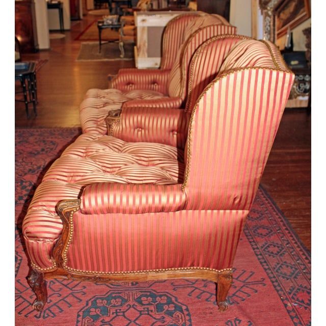 French C. 1900 French Louis XV Bergere Chairs - a Pair For Sale - Image 3 of 10