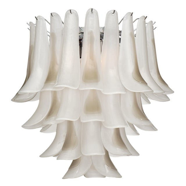 """Murano Glass """"Selle"""" Chandelier For Sale"""