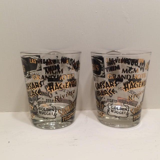 Mid Century Las Vegas Tumbler Glasses - A Pair - Image 3 of 7