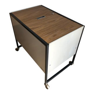 Vintage Mid Century Industrial Filing Cabinet/ Cart For Sale