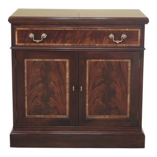 Traditional Stickley Flip Top Mahogany Server Cabinet For Sale