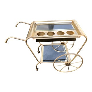 1950s Vintage Josef Frank for Svenskt Tenn Brass Serving Cart For Sale