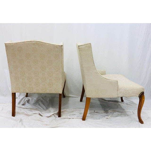 Pair Vintage French Style Side Chairs For Sale - Image 9 of 12