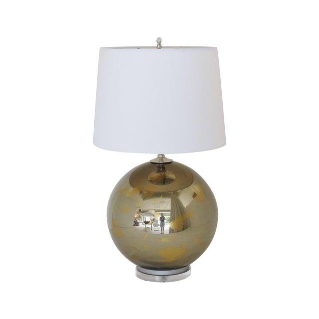 Bronzed Mercury Glass Globe Lamp - Image 1 of 6