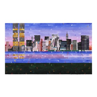 """New York Skyline"" Contemporary Limited Edition of 45 Print For Sale"