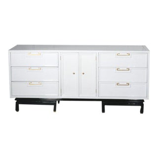 American of Martinsville Ming Credenza Lacquered White For Sale