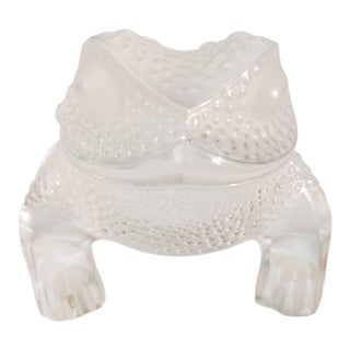 Lalique Gregoire Toad Crystal Figurine For Sale