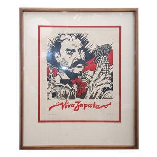 Viva Zapata Xilografia For Sale