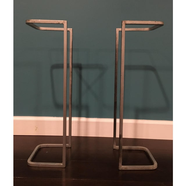Industrial Metal Table Supports - A Pair - Image 2 of 8