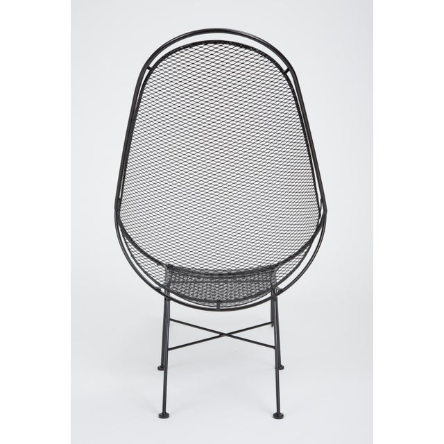 Metal Scoop Lounge Chair With Ottoman by Maurizio Tempestini for Salterini For Sale - Image 7 of 13