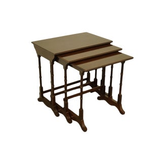Ethan Allen Georgian Court Solid Cherry Nesting Tables - 11-8206 W. 225 Finish For Sale