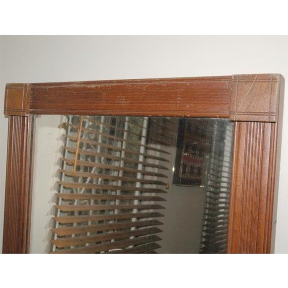 19th Century. Large Floor/Wall Walnut Natural Floor Mirror For Sale In Los Angeles - Image 6 of 6