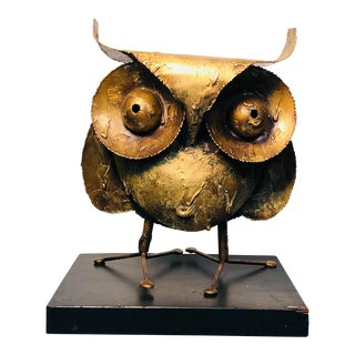 Curtis Jere Owl Sculpture For Sale