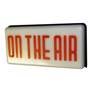 Vintage Radio Station On Air Sign