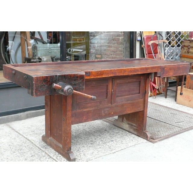 Superb 20Th Century Industrial Cabinet Makers Workbench Gmtry Best Dining Table And Chair Ideas Images Gmtryco