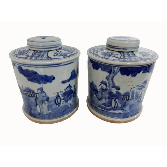 B & W Ginger Jars - A Pair - Image 4 of 6