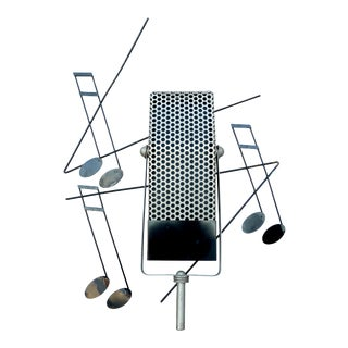 Curtis Jere Microphone Sculpture For Sale