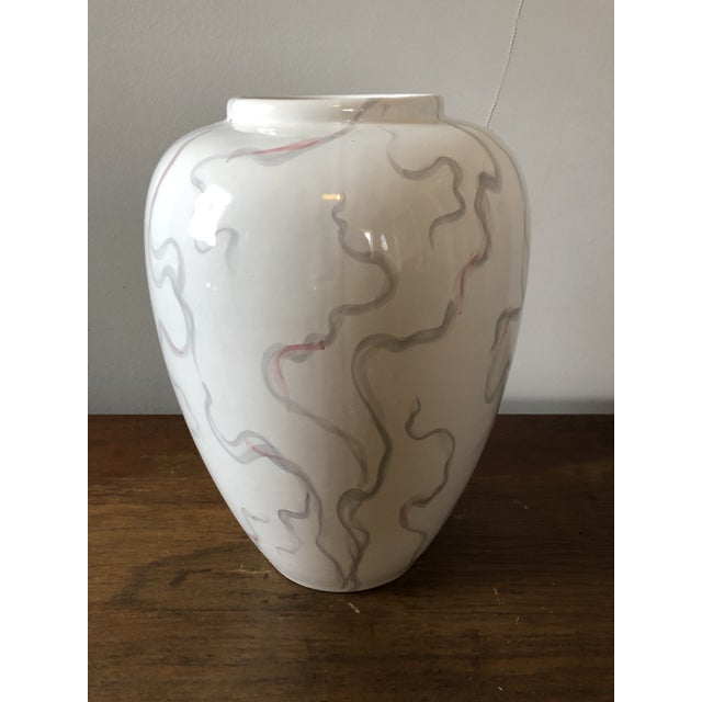 Vintage Large Italian Ceramic Vase For Sale - Image 5 of 5