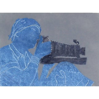 "Rob Delamater ""Dorothea Lange With Camera"" Monotype, 2015 2015 For Sale"