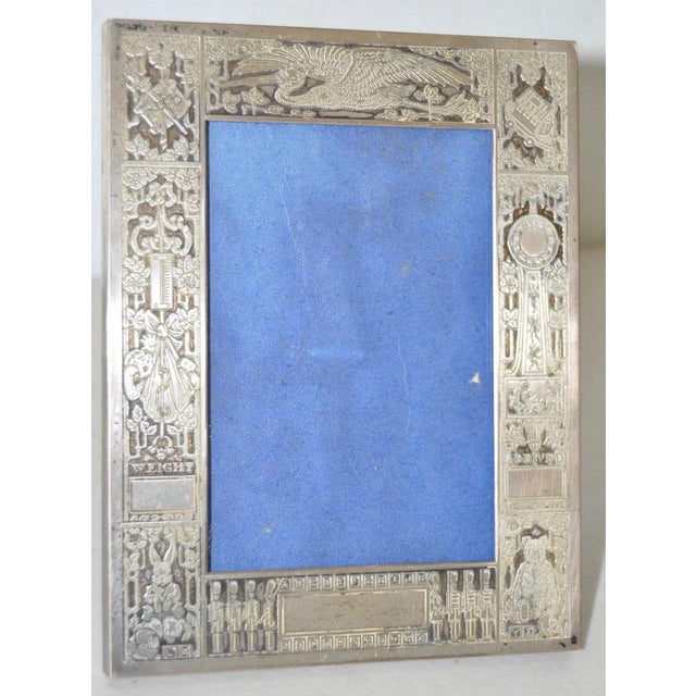 Sterling Silver New Born Baby Picture Frame c.1920s For Sale In San Francisco - Image 6 of 7
