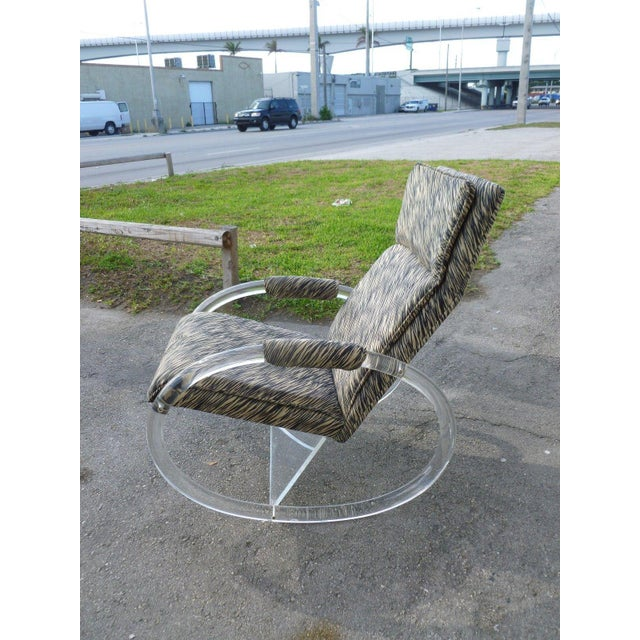 Mid-Century Modern 1970's Vintage Hollis Jones Lucite Rocking Chair For Sale - Image 3 of 9
