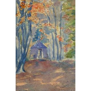 Watercolor Landscape - Woodland Retreat For Sale