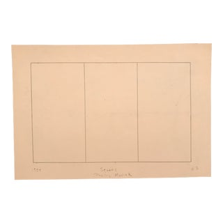 1958 Mid-Century Modern Squares Drawing by Phyllis Myrick For Sale