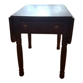 Small Walnut Drop Leaf Table For Sale