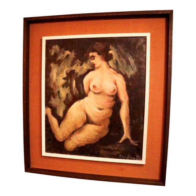 """""""Nude"""" Oil on Canvas Painting For Sale In New York - Image 6 of 6"""