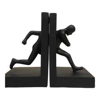 Contemporary Running Man Bookends - a Pair For Sale