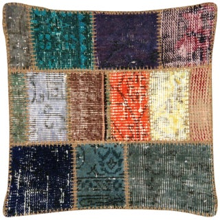 "Nalbandian - Turkish Patchwork Pillow - 20"" X 20"" For Sale"