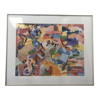 "Garland Ferris ""Birds Eye View #4"" Framed Painting For Sale"