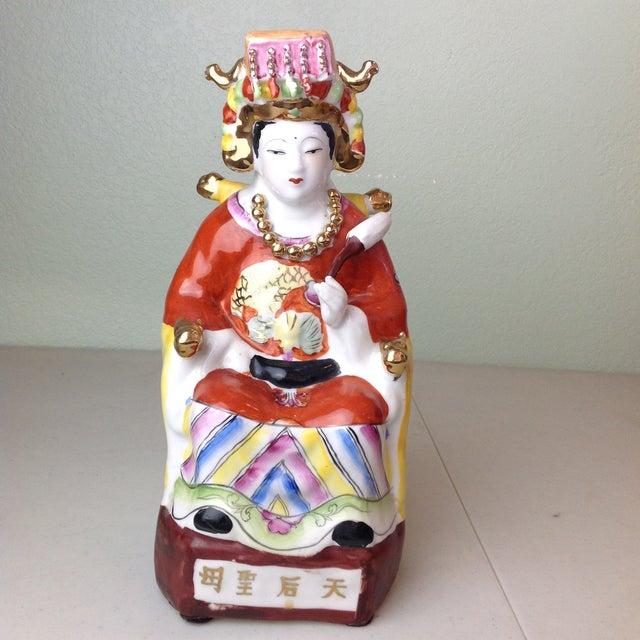 Vintage Ceramic Chinese Empress Figurine For Sale - Image 11 of 11