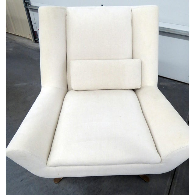 Contemporary Pair of Restoration Hardware Luke Swivel Chairs For Sale - Image 3 of 10