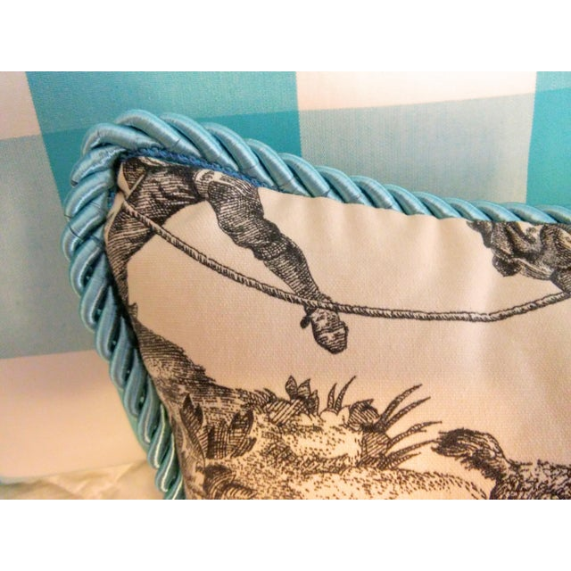 """Check the Toile and Coral!"" Pillows - Set of 4 - Image 3 of 7"