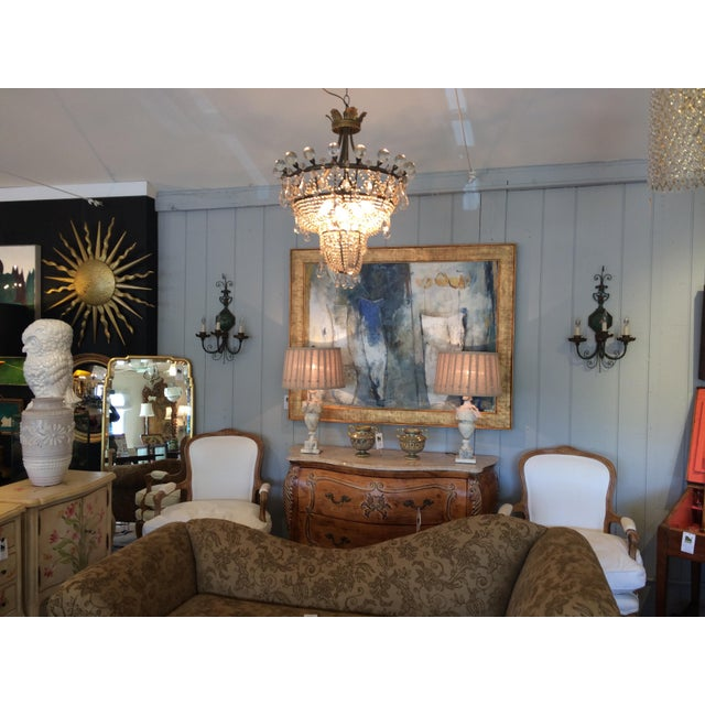 French 3 Tier Crystal Chandelier For Sale In Philadelphia - Image 6 of 13