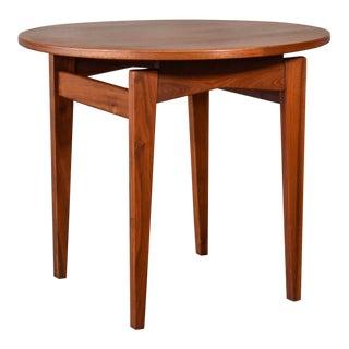 Jens Risom Walnut Side Table For Sale