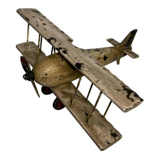 VIntage Toy Bi-Plane Airplane For Sale