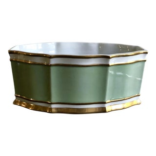 Sadek Hand Painted Gold Trim Cachepot