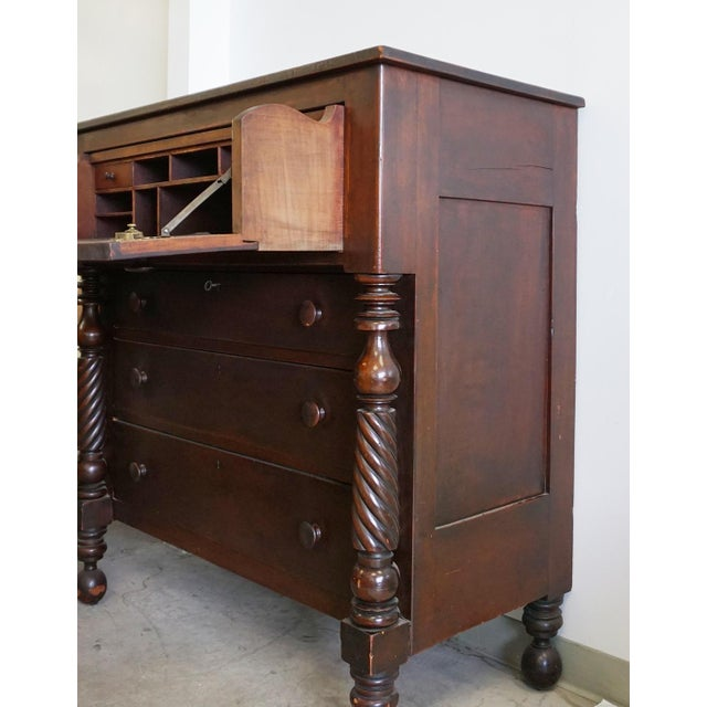 Antique 1800s Butler Chest with Desk Drawer For Sale - Image 5 of 8