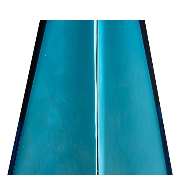 """Blue """"Specchiate"""" Murano Glass Lamps For Sale - Image 4 of 10"""