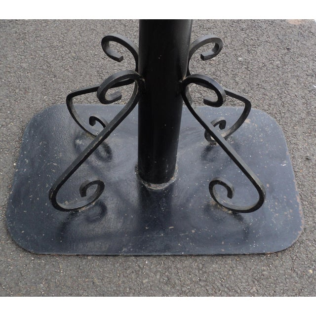 Antique Black Painted Art Deco Cast Iron Table Base For Sale - Image 9 of 11