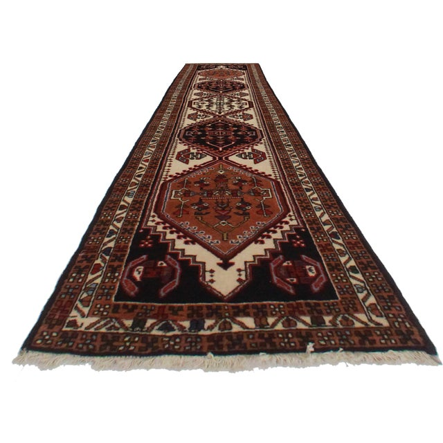 "Vintage Persian Ardebil Wool Runner- 2'5"" X 10'5"" - Image 2 of 2"