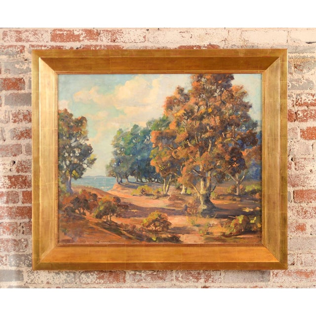 Horatio Nelson Poole - Large California Landscape -Original Oil Painting Impressionist c1949 oil Painting on Canvas size...