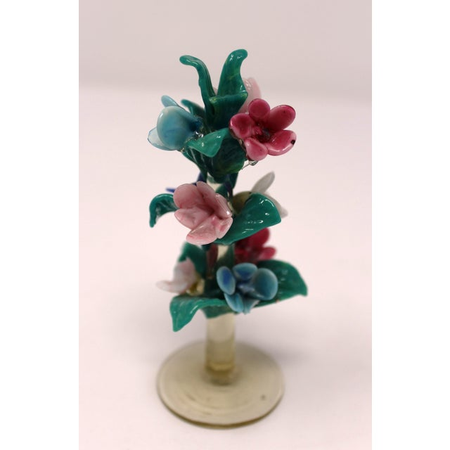 Early 20th Century Vintage Antique Miniature Murano Flowers For Sale - Image 5 of 6