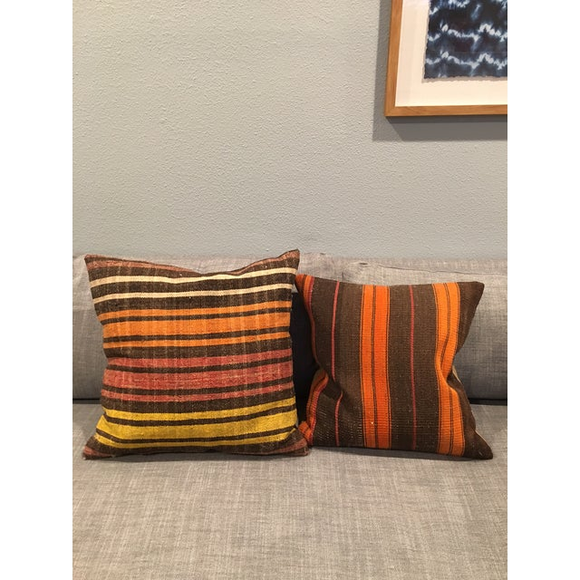 Turkish Kilim Pillow Covers - A Pair - Image 2 of 5