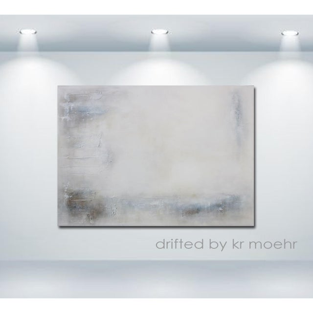 """Drifted"" Modern Textured Abstract Painting - Image 4 of 6"