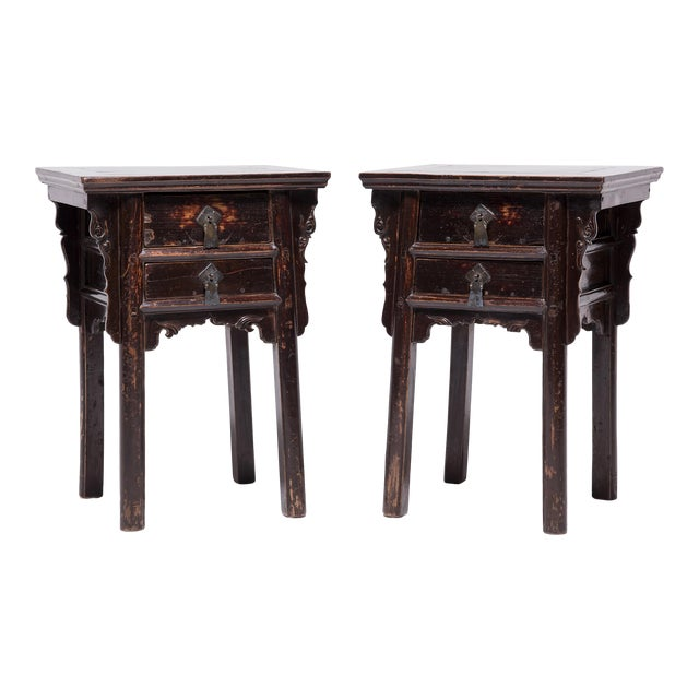 19th Century Chinese Shanxi Tall Petite Cabinets - a Pair For Sale